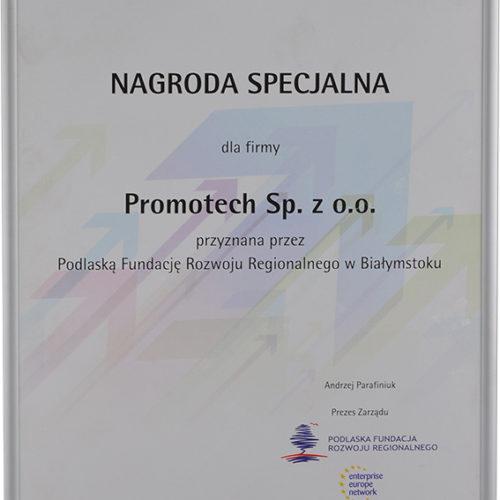 Nagroda Specjalna w rankingu Innowacje 2011 – Podlaska Fundacja Rozwoju Regionalnego w Białymstoku