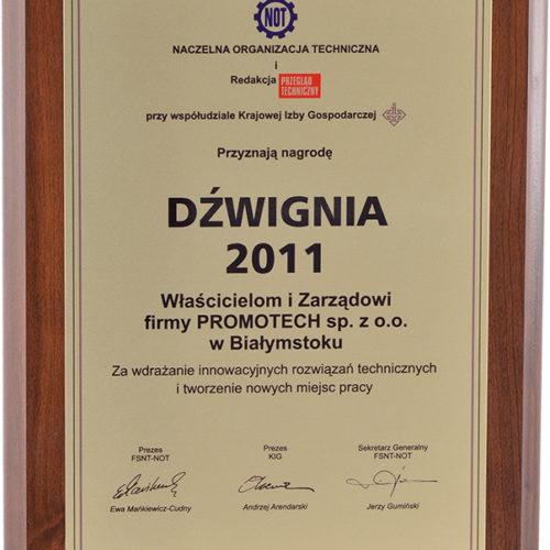 """Nagroda """"Dźwignia 2011"""" – Naczelna Organizacja Techniczna"""