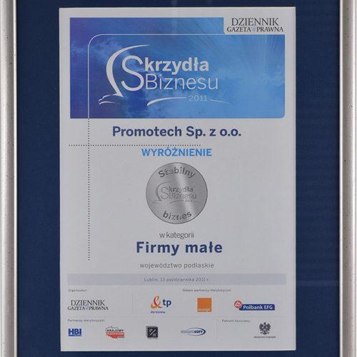 """Wyróżnienie """"Stabilny biznes"""" w kategorii Firmy małe – Dziennik Gazeta Prawna"""