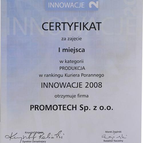 """I m-ce w kat. """"Produkcja"""" w rankingu Innowacje 2008 – Kurier Poranny"""