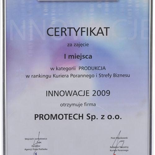 """I m-ce w kat. """"Produkcja"""" w rankingu Innowacje 2009 – Kurier Poranny"""